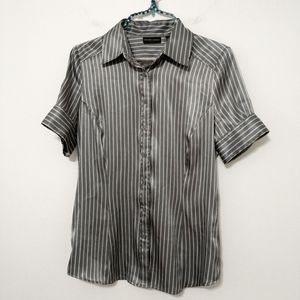 New York and Company Striped Short Sleeve Size S